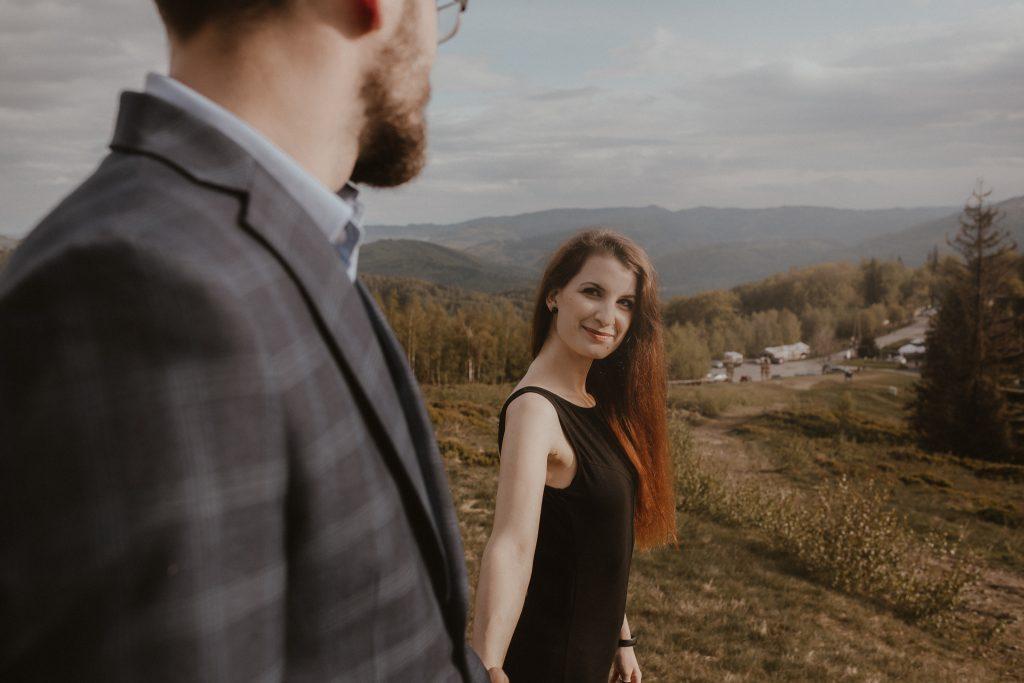 Sesja ślubna w górach.